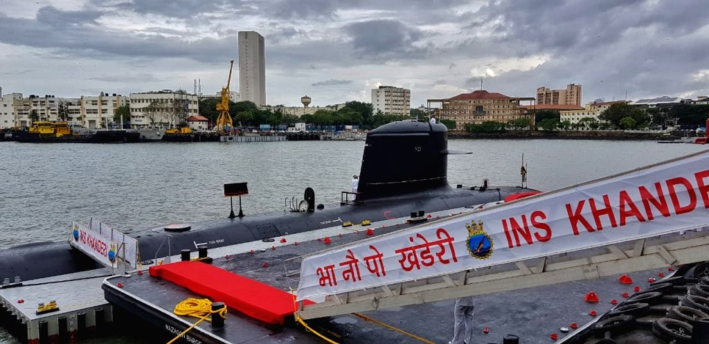 Mumbai: Defence Minister Rajnath Singh commissions India's second Scorpene-class attack submarine in Mumbai on Saturday - Rajnath Singh