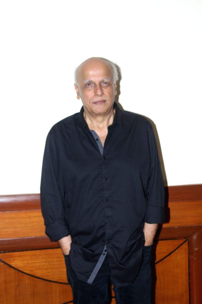 ":Mumbai: Director Mahesh Bhatt during the promotion of his upcoming film ""Jalebi"" in Mumbai on Oct 8, 2018.(Photo: IANS)."