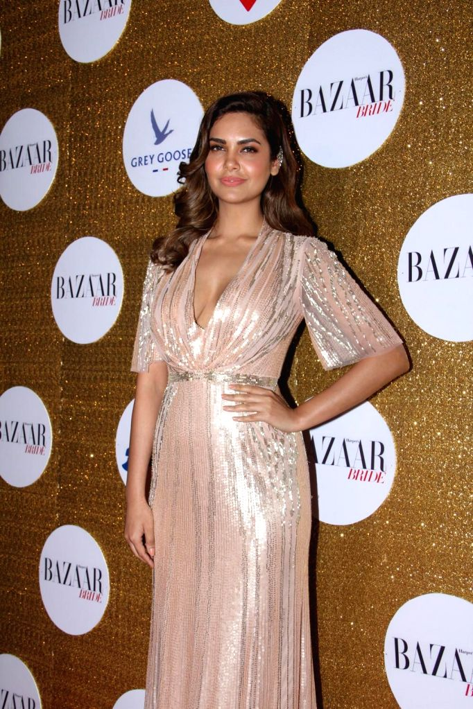 Esha Gupta during the Red Carpet For Harper's Bazaar Bride 1st Anniversary Party in Mumbai on February 2015. - Esha Gupta