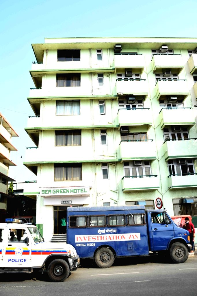 Mumbai: Exterior view of Sea Green South Hotel where Mohan Delkar, a Lok Sabha member from Dadra and Nagar Haveli allegedly died by suicide on Monday 22nd February 2021. (Photo: Sandip Mahankal/IANS)