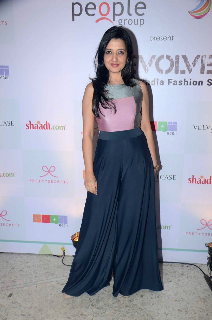 Fashion designer Amy Billimoria during their Evolve Digital India fashion show in Mumbai on Feb 27, 2015.