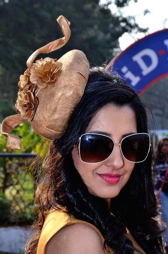 Fashion designer Amy Billimoria  during the annual Mid-Day Trophy 2015 at Mahalaxmi race course in Mumbai on Jan 18, 2015.