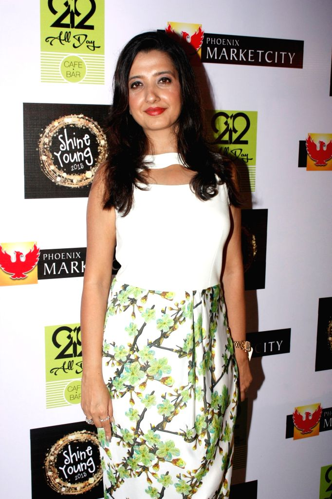 Fashion designer Amy Billimoria during the grand finale of Shine Young 2015 in Mumbai, on June 21, 2015.