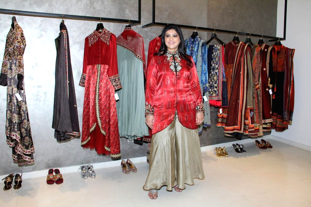 Fashion Designer Anjali Jain during the launch of fashion designer Anjali Jain's store in Mumbai on Feb 15, 2015.