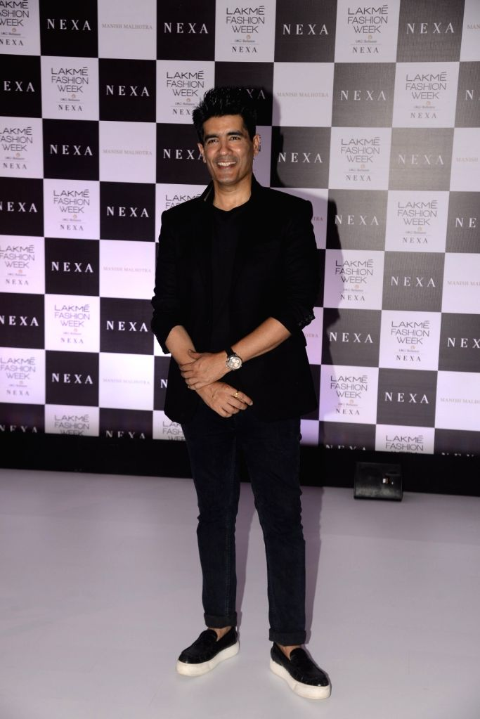 Mumbai: Fashion Designer Manish Malhotra during a programme in Mumbai on Aug 9, 2017. - Designer Manish Malhotra