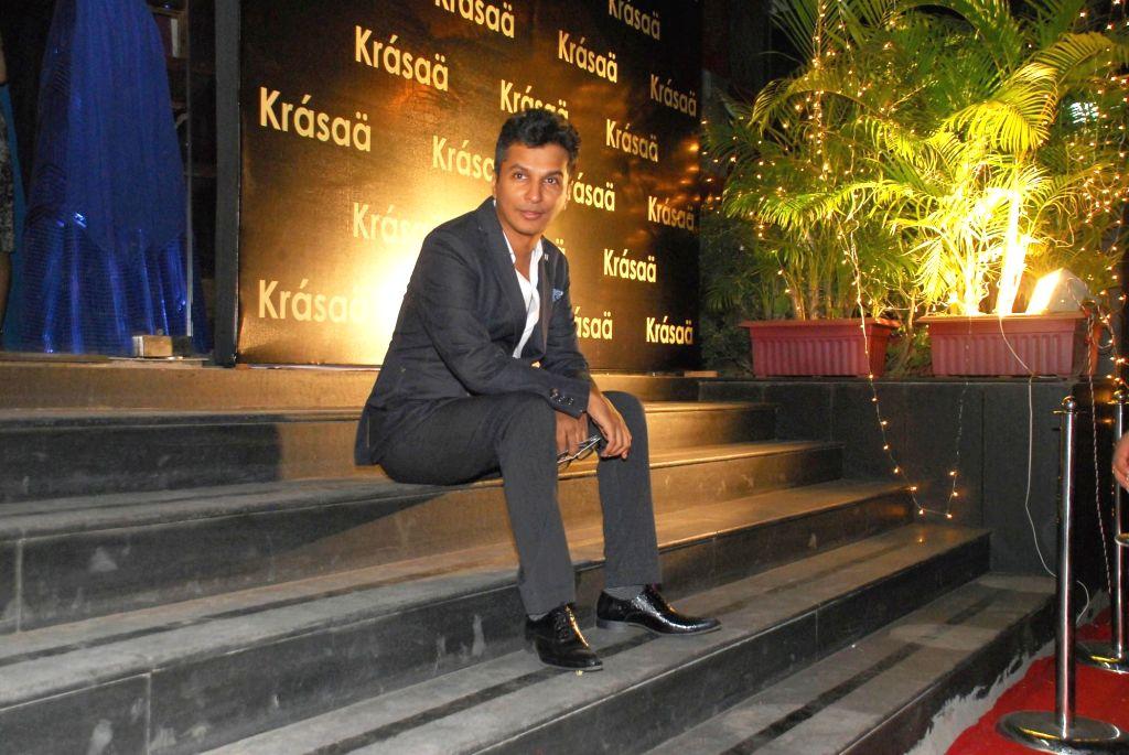 Fashion designer Vikram Phadnis during opening of Vikram Phadnis fashion store Krasaa in Mumbai on Sunday, Dec. 7, 2014.