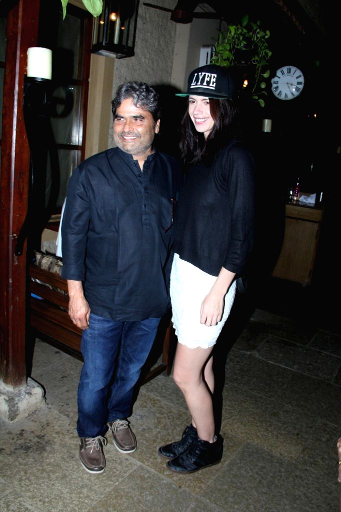 Film maker Vishal Bhardwaj and actress Kalki Koechlin during the success party of film Hunterrr in Mumbai on March 27, 2015. - Kalki Koechlin and Vishal Bhardwaj