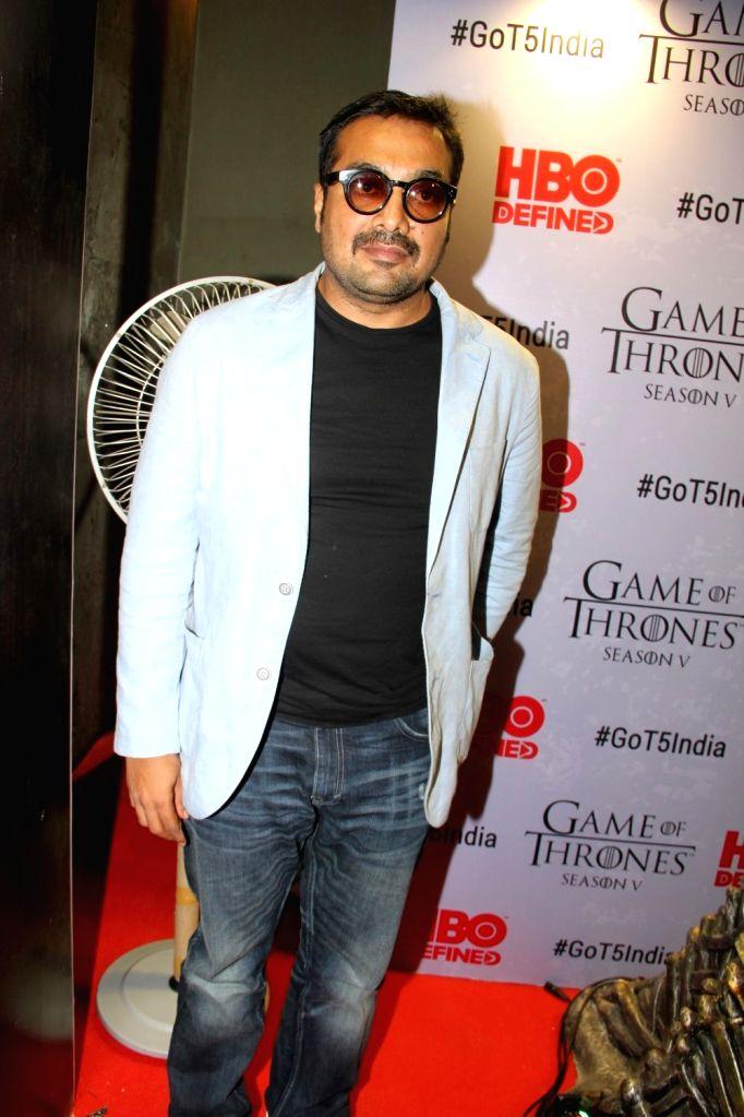 Filmmaker Anurag Kashyap at the premiere of film `Game of Thrones` Season 5 in Mumbai on April 9, 2015. - Anurag Kashyap