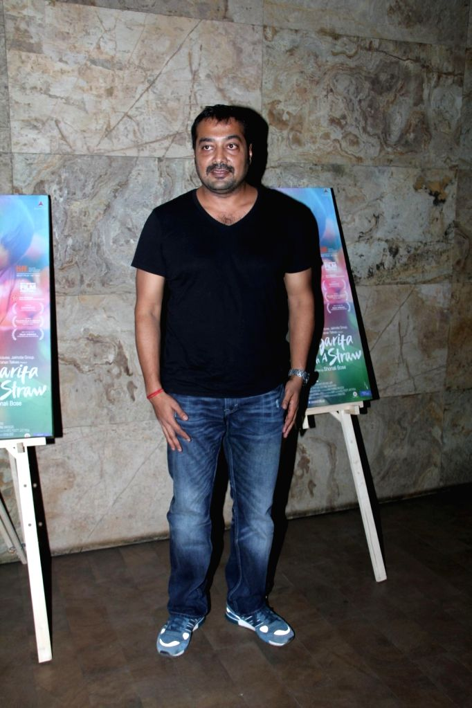 Filmmaker Anurag Kashyap during the special screening of film Margarita With A Straw in Mumbai on April 8, 2015. - Anurag Kashyap