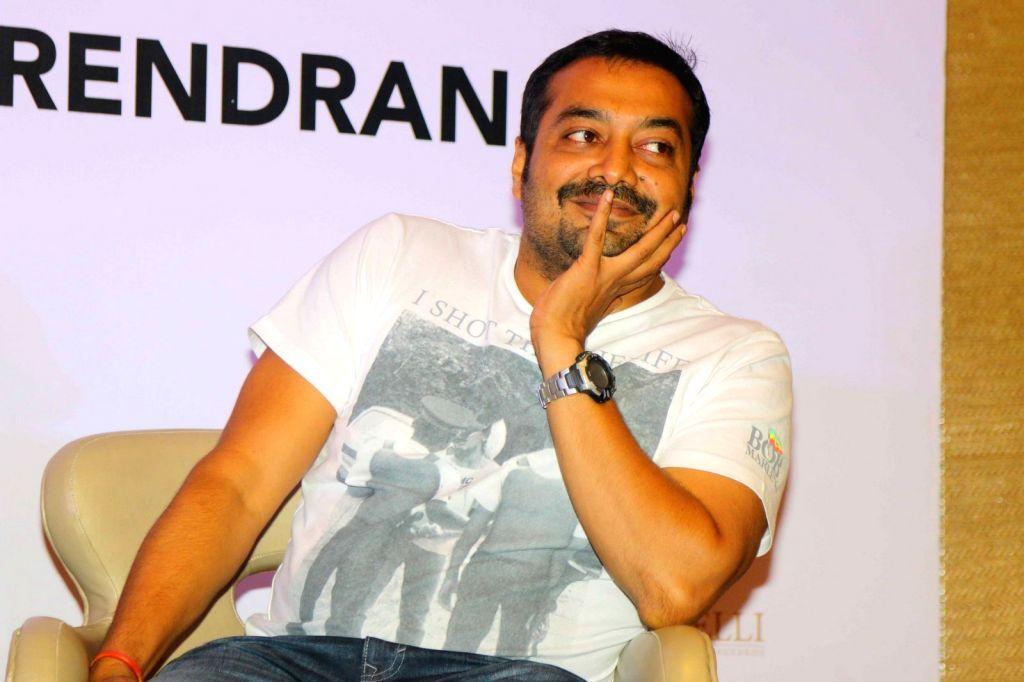 Filmmaker Anurag Kashyap during the launch of senior journalist C P Surendran`s book `Hadal`, in Mumbai on April 10, 2015. - Anurag Kashyap