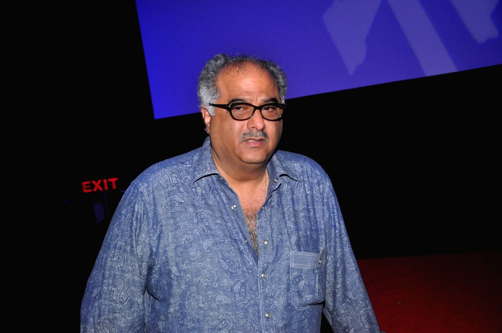 Mumbai: Filmmaker Boney Kapoor during the launch of song Radha from film Tevar, in Mumbai on Nov 25, 2014. (Photo: IANS) - Boney Kapoor