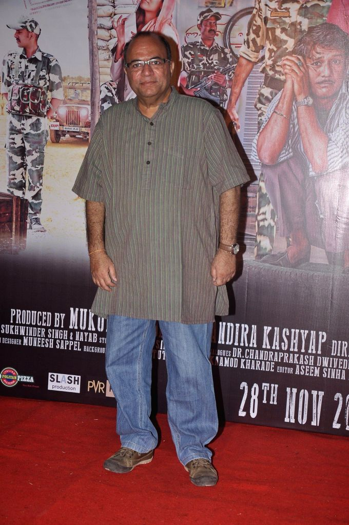 Filmmaker Chandra Prakash Dwivedi during the press conference of upcoming film Zed Plus in Mumbai on Nov. 11, 2014. - Chandra Prakash Dwivedi