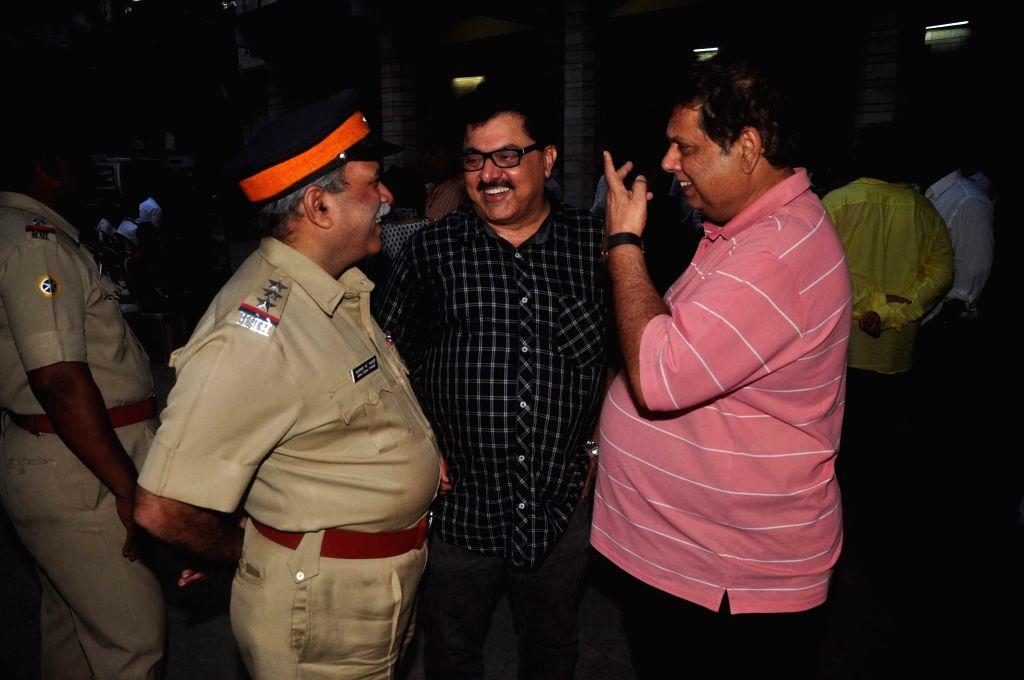 Filmmaker David Dhawan during the condolence meeting of filmmaker Madhur Bhandarkar`s mother Shanta Bhandarkar in Mumbai on Feb 23, 2015. - David Dhawan