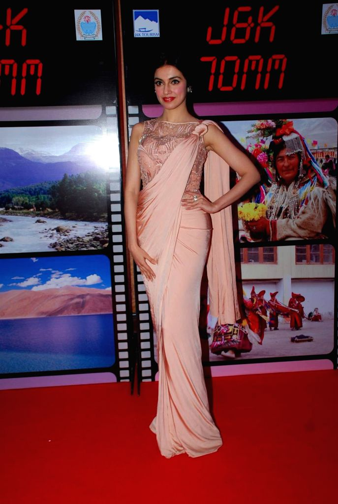 Filmmaker Divya Khosla Kumar during an event organised by Jammu and Kashmir government to promote J&K as a prime tourist destination and a shooting location for movies, in Mumbai, on ... - Divya Khosla Kumar