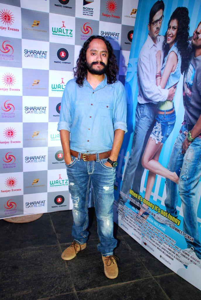 Filmmaker Gurmmeet Singh during the music launch of film Sharafat Gayi Tel Lene in Mumbai on Thursday, Dec 11, 2014. - Gurmmeet Singh