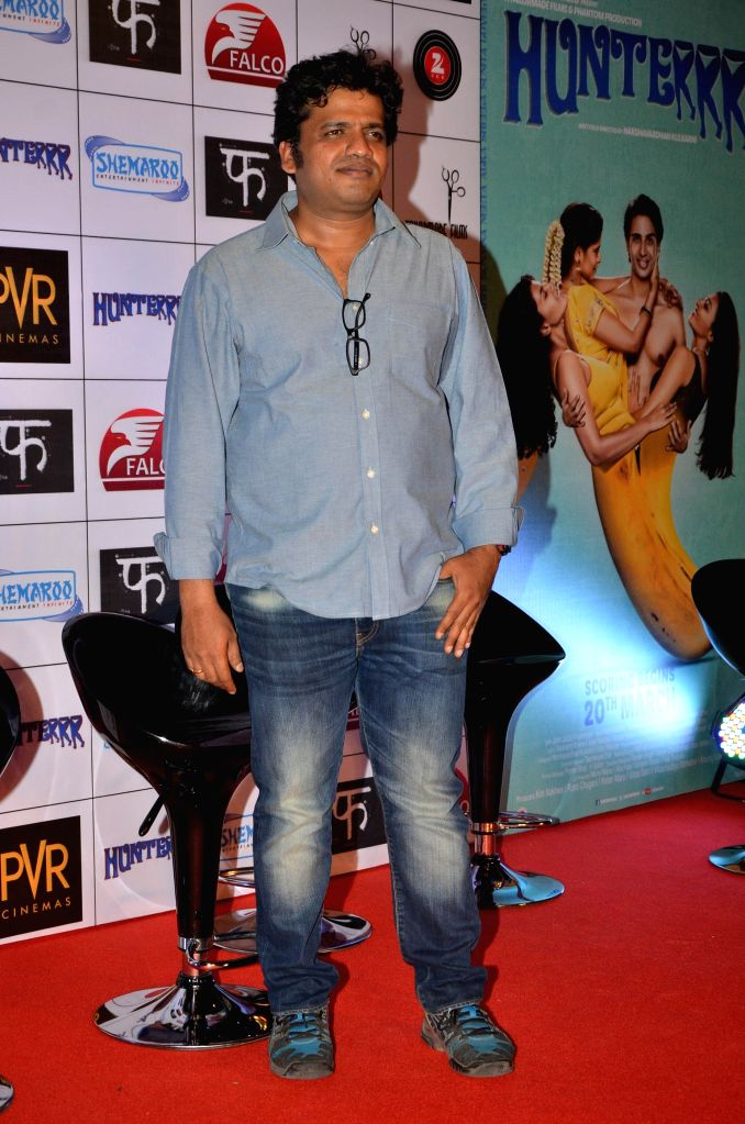 Filmmaker Harshavardhan Kulkarni during the trailer launch of upcoming film 'Hunterrr' in Mumbai, on Jan. 15, 2015. - Harshavardhan Kulkarni