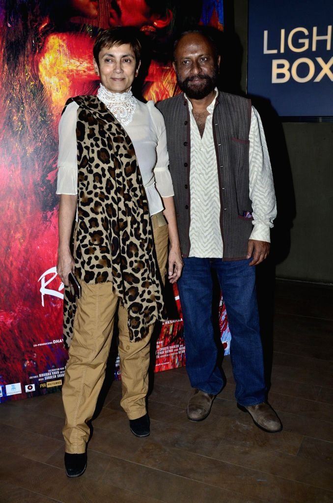 Filmmaker Ketan Mehta, actor Deepa Sahi during the screening of film Rang Rasiya, in Mumbai, on Nov. 4, 2014. - Ketan Mehta