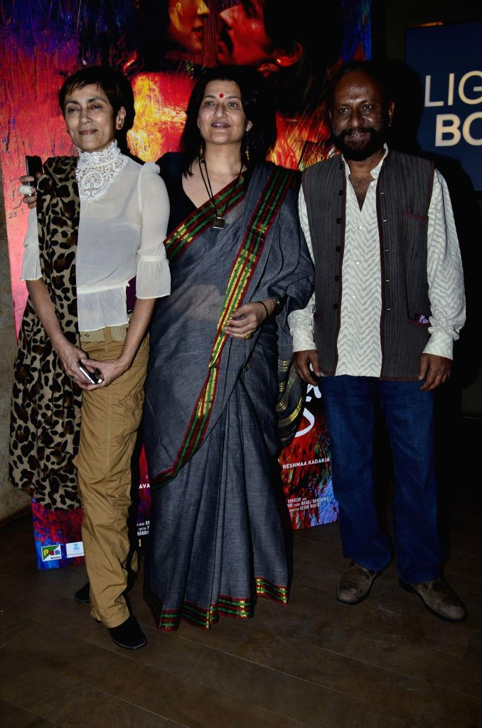 Filmmaker Ketan Mehta, actors Deepa Sahi and Sarika during the screening of film Rang Rasiya, in Mumbai, on Nov. 4, 2014. - Ketan Mehta, Deepa Sahi and Sarika