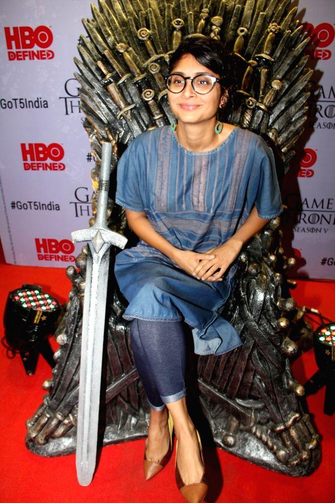 Filmmaker Kiran Rao at the premiere of film `Game of Thrones` Season 5 in Mumbai on April 9, 2015. - Kiran Rao