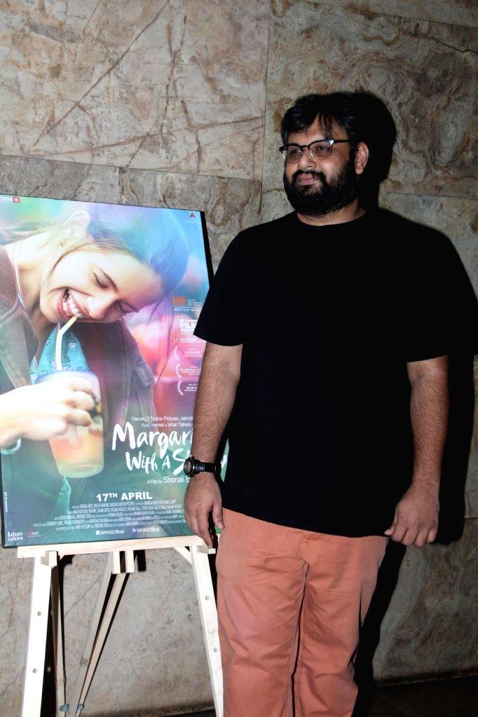 Filmmaker Nilesh Maniyar during the special screening of film Margarita With A Straw in Mumbai on April 8, 2015. - Nilesh Maniyar