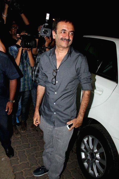 Filmmaker Rajkumar Hirani at the party hosted by Deepika padukone for the succes of film Piku, in Mumbai, on May 18, 2015. - Rajkumar Hirani