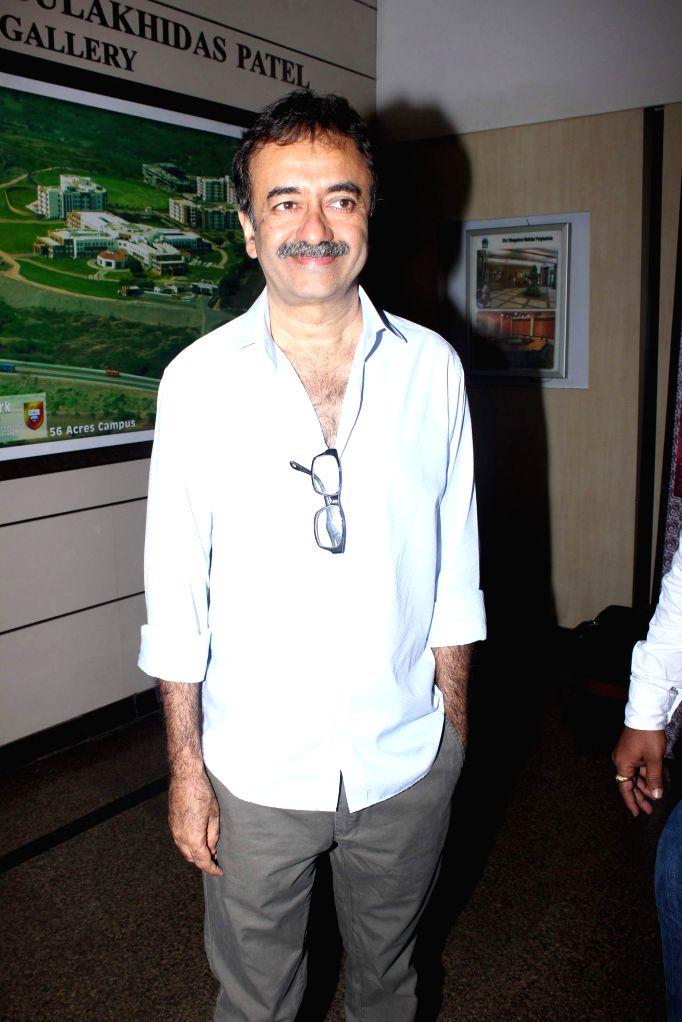 Filmmaker Rajkumar Hirani during Ashvin Gidwani`s play Two to Tango Three to Jive, in Mumbai on April 4, 2015. - Rajkumar Hirani