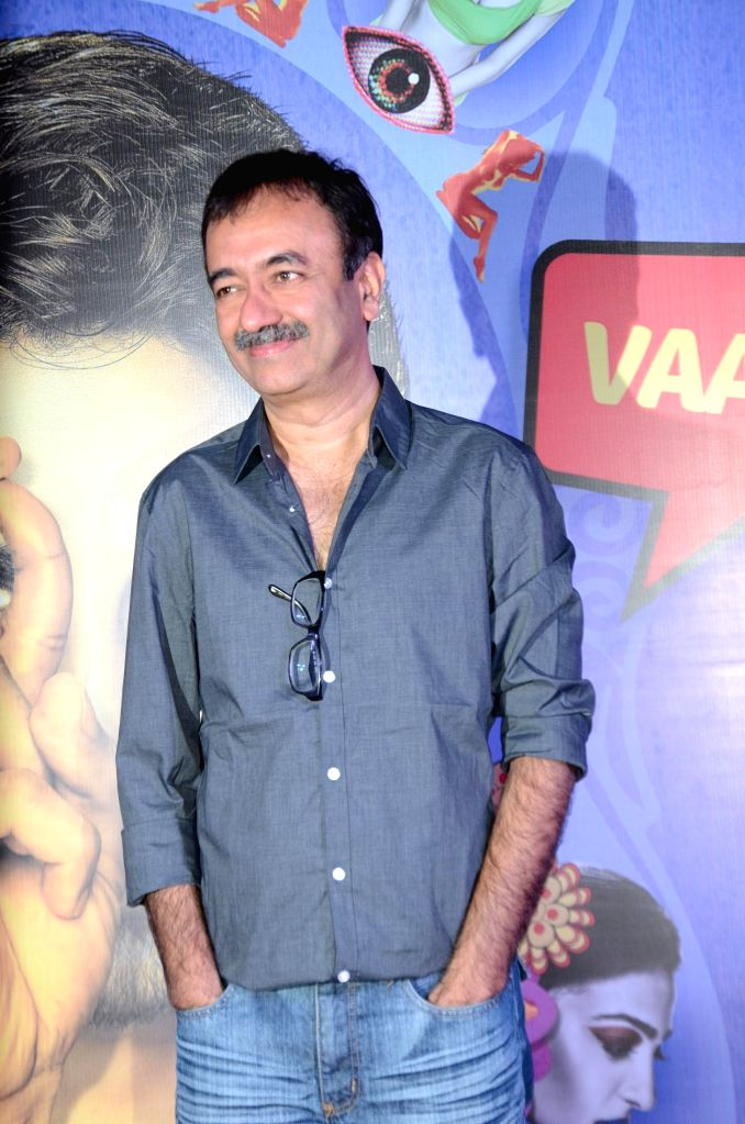 Filmmaker Rajkumar Hirani during the premiere of film Hunterrr in Mumbai on March 17, 2015. - Rajkumar Hirani