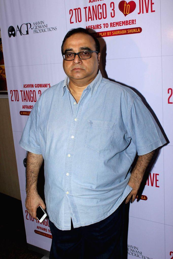 Filmmaker Rajkumar Santoshi during Ashvin Gidwani`s play Two to Tango Three to Jive, in Mumbai on April 4, 2015. - Rajkumar Santoshi