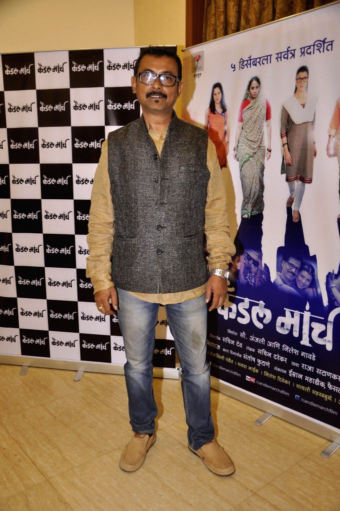 Filmmaker Sachin Dev during the music launch of upcoming Marathi film Candle March in Mumbai, on Nov 17, 2014. - Sachin Dev