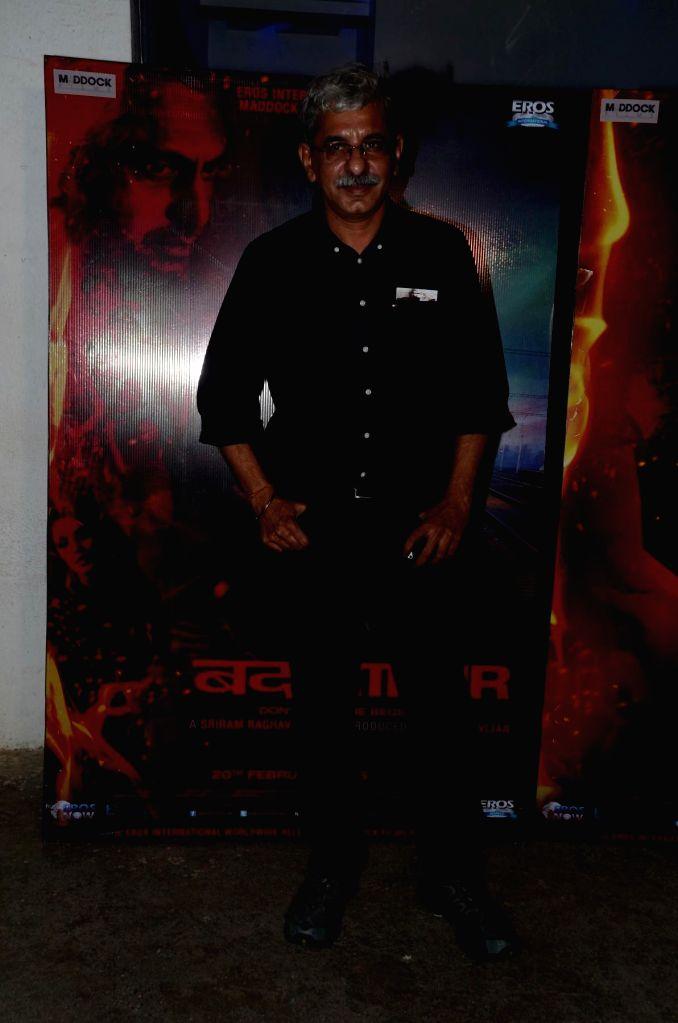 Filmmaker Sriram Raghavan during the special screening of the movie Badlapur in Mumbai on 18th Feb, 2015. - Sriram Raghavan