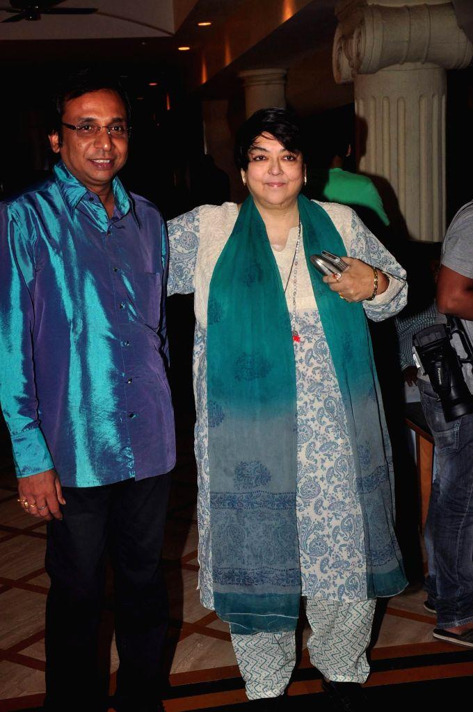 Filmmaker Sunanda Shyamal Mitra and Kalpana Lajmi during the music launch of film Extraordinaari in Mumbai on Dec 30, 2014. - Sunanda Shyamal Mitra