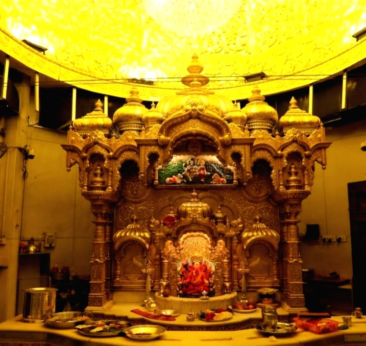 Mumbai: For the first time in its 220 year history, the famed Siddhivinayak Temple in Prabhadevi sports a gilded look courtesy a 35 kg gold worth Rs 14 crore, made by an 'anonymous' Delhi devotee. The gold was utilized to cover the wooden doors with