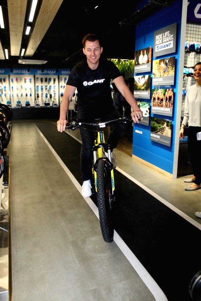 Mumbai: Former Australian cricketer Brett Lee during a promotional programme in Mumbai, on May 9, 2019. (Photo: IANS)