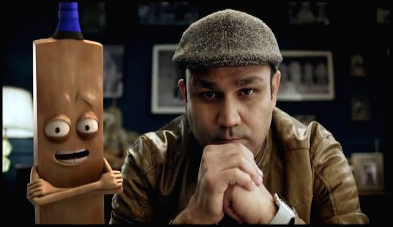 Mumbai: Former cricketer Virender Sehwag in a still from Star Sports campaign to promote the India Vs Bangladesh contest. The campaign depicts Sehwag taking on an animated avatar of a Bangladeshi ball in a simple game of 'Chidiya UddâÂ