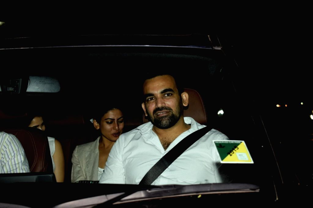 "Mumbai: Former cricketer Zaheer Khan  at the special screening of upcoming film ""Soorma"" in Mumbai on July 11, 2018.(Photo: IANS) - Zaheer Khan"
