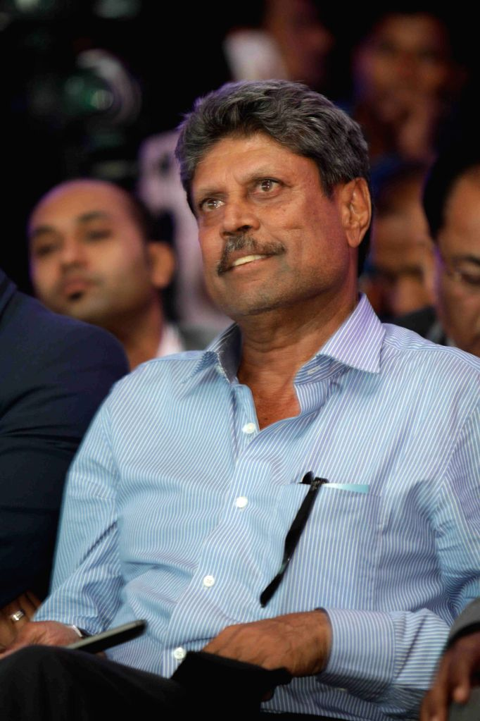Former Indian cricket player Kapil Dev during the announcement of World Brokers Day and also the launch of R Square in Mumbai, on June 9, 2015. - Kapil Dev