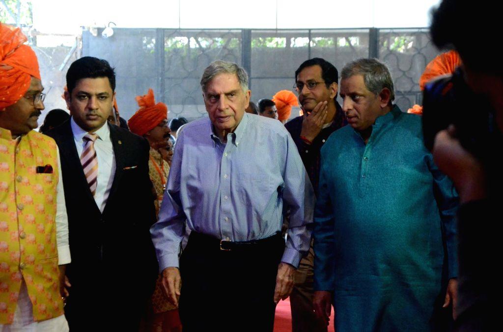 Mumbai: Former Tata Group Chairman Ratan Tata at Maharashtra Navnirman Sena (MNS) chief Raj Thackeray's son Amit Thackeray's wedding reception in Mumbai, on Jan 27, 2019. (Photo: IANS) - Ratan Tata