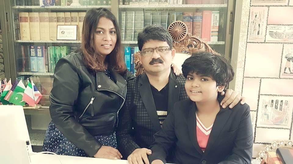 Mumbai girl Zen G. Sadavarte with parents Gunratan Sadavarte and Jayshri Patil-Sadavarte. - Jayshri Patil