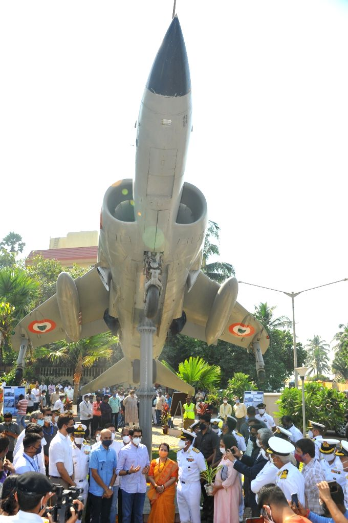 Mumbai got its first Sea Harrier Monument which was inaugurated at the Bandra Bandstand, on the shores of Arabian Sea, by Tourism Minister Aditya Thackeray, Rear Admiral V. Srinivas and Mumbai Mayor Kishori Pednekar. - Aditya Thackeray