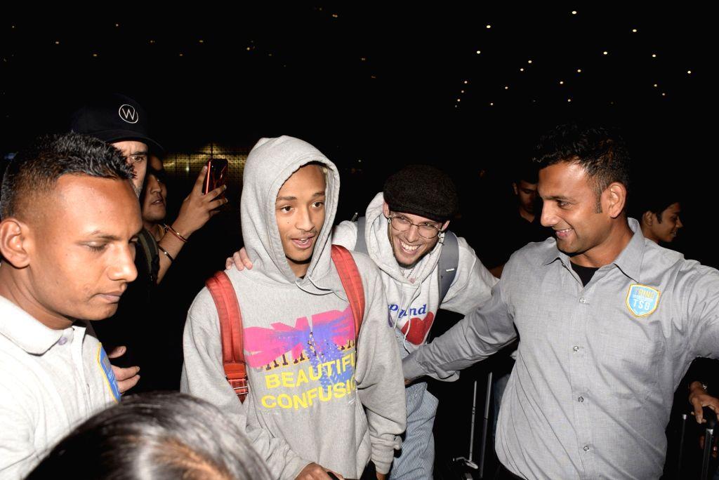 Mumbai: Hollywood actor Will Smith's son Jaden Smith seen at airport in Mumbai, on Feb 15, 2019. (Photo: IANS) - Will Smit