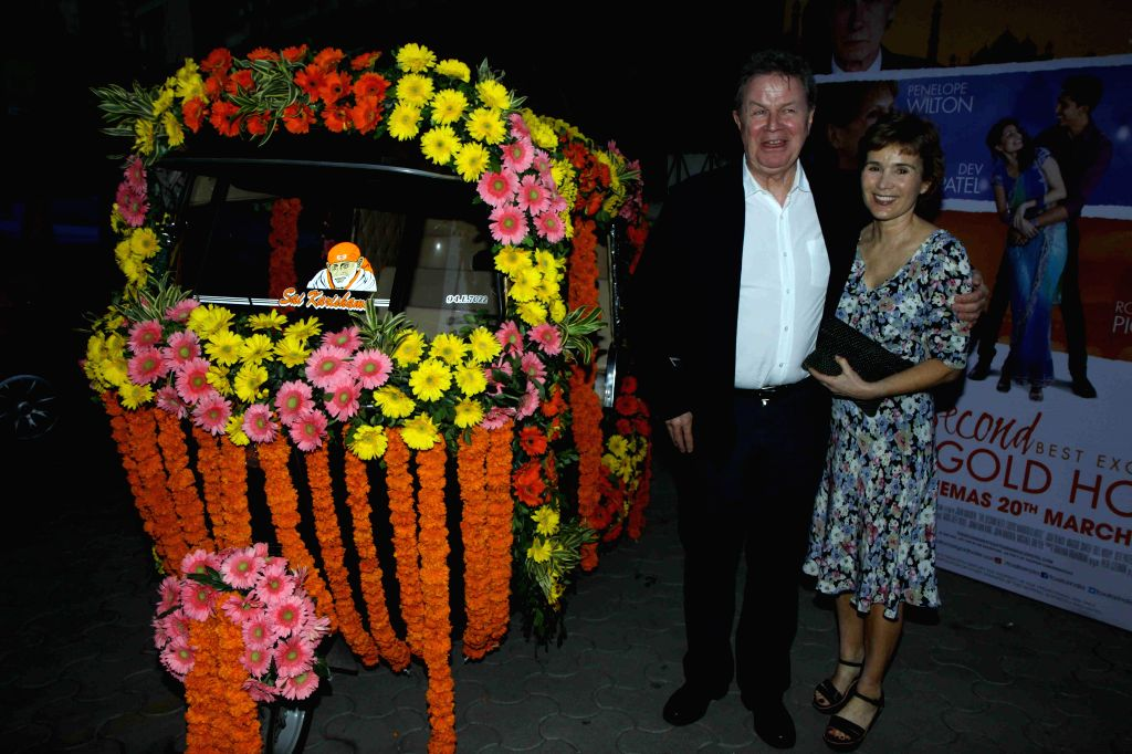Hollywood filmmaker John Madden during the special screening of Hollywood film The Second Best Exotic Marigold Hotel in Mumbai, on March 13, 2015.
