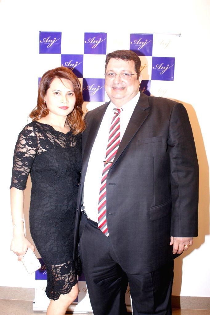 Hoshi and Anjoo Karanjia during the launch of store Anj Kouture in Mumbai.