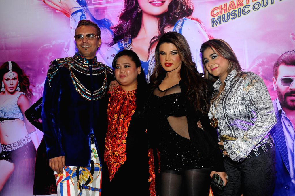 Imam Siddique, Bharti Singh, Rakhi Sawant during the audio launch of film `Mumbai Can Dance Saalaa` in Mumbai on Thursday, Dec 11, 2014. - Bharti Singh