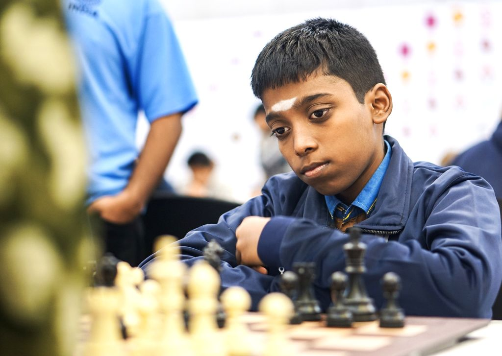Mumbai: India's R Praggnanandhaa at World Youth Chess Championship in Mumbai on Oct 6, 2019. (Photo: IANS)