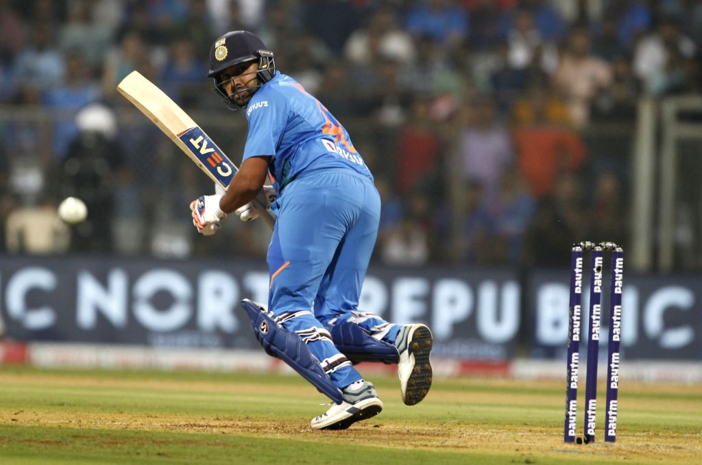 Mumbai: India's Rohit Sharma in action during the third T20I match between India and West Indies at Wankhede Stadium in Mumbai on Dec 11, 2019. (Photo: Surjeet Yadav/IANS) - Rohit Sharma and Surjeet Yadav