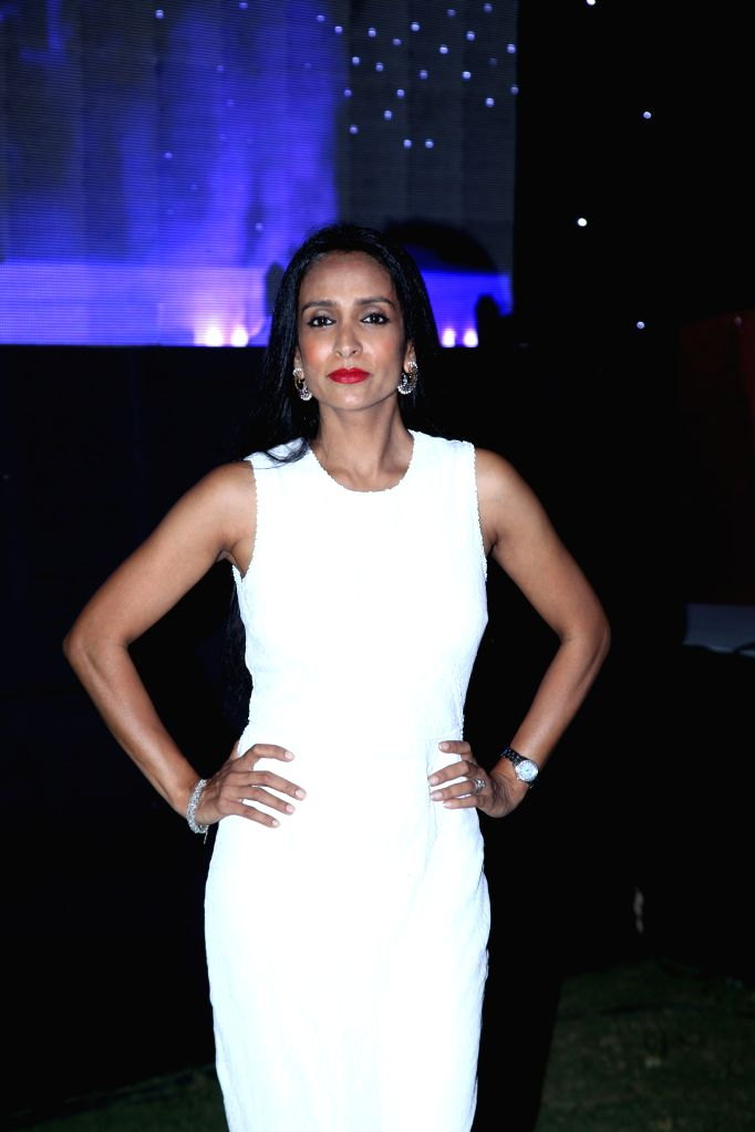 Indian actress, model, anchor, and veejay Suchitra Pillai at the The India Shopping Centre Forum, 2015 in Mumbai on May 6, 2015.