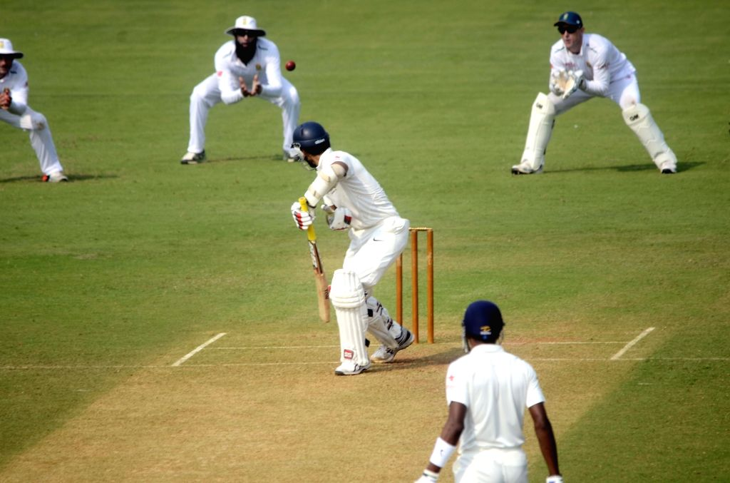Mumbai: Indian cricketer Naman Ojha in action during a match between Indian Board President`s XI and South African at Brabourne Stadium in Mumbai on Oct 30, 2015.