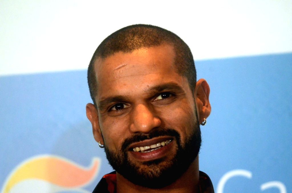 Mumbai: Indian cricketer Shikhar Dhawan during a programme organised by GS Caltex India to sign him as their brand ambassador in Mumbai on April 24, 2019. (Photo: IANS) - Shikhar Dhawan