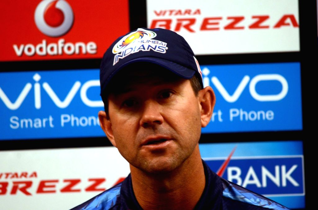 Mumbai Indians coach Ricky Ponting addresses a press conference in Mumbai, on April 19, 2016.