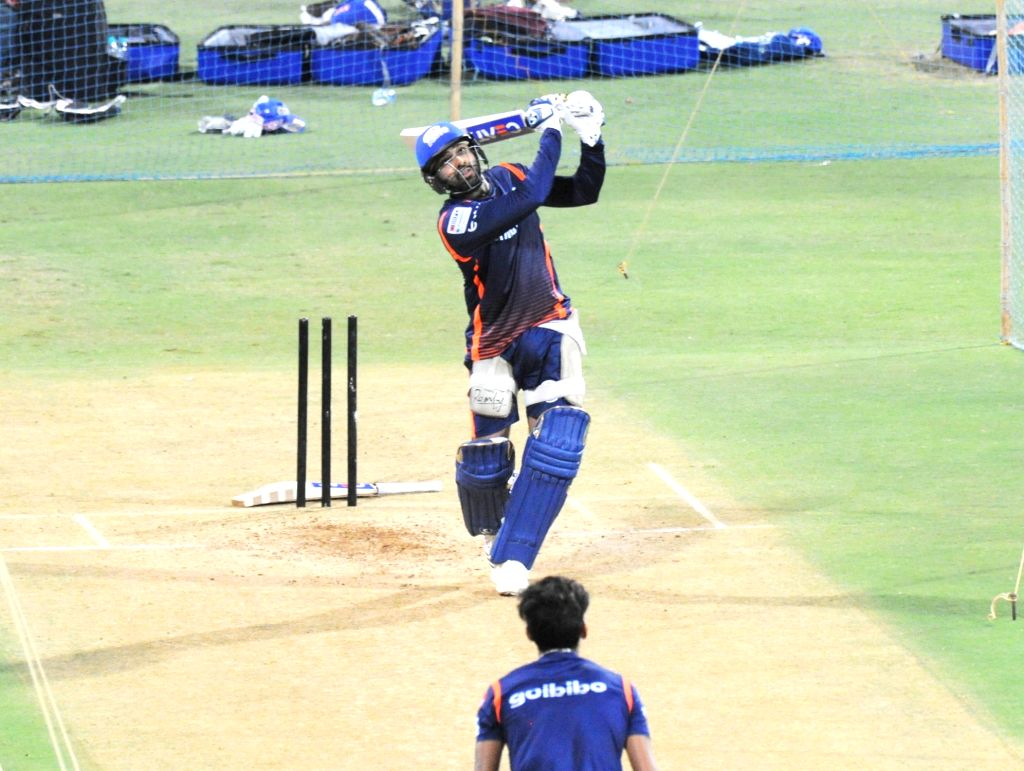 Mumbai Indians skipper Rohit Sharma during a practice session at Wankhede Stadium in Mumbai on April 6, 2018. - Rohit Sharma